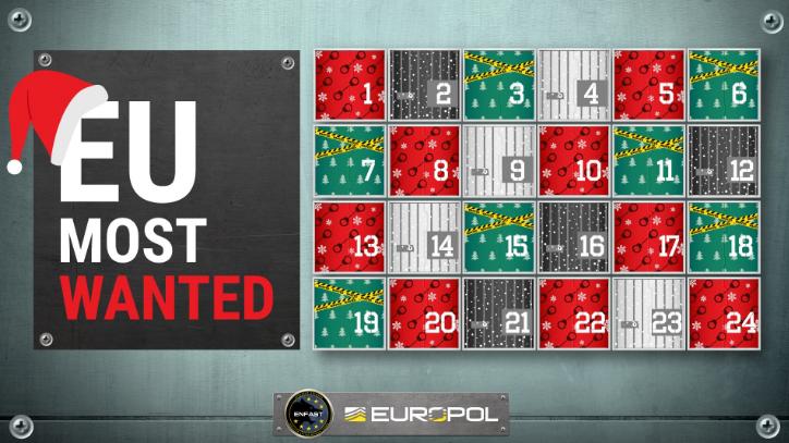 Un calendrier de l'avent dévoile les fugitifs les plus recherchés de l'UE