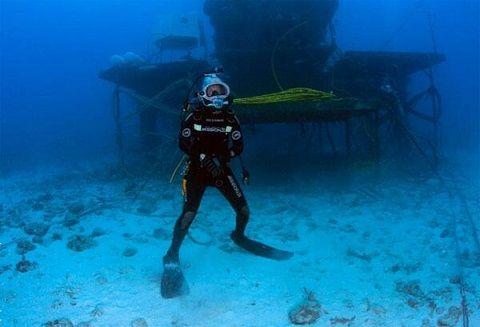 C'est à 20 mètres de profondeur que le passionné de 46 ans a passé 31 journées dans un laboratoire sous-marin