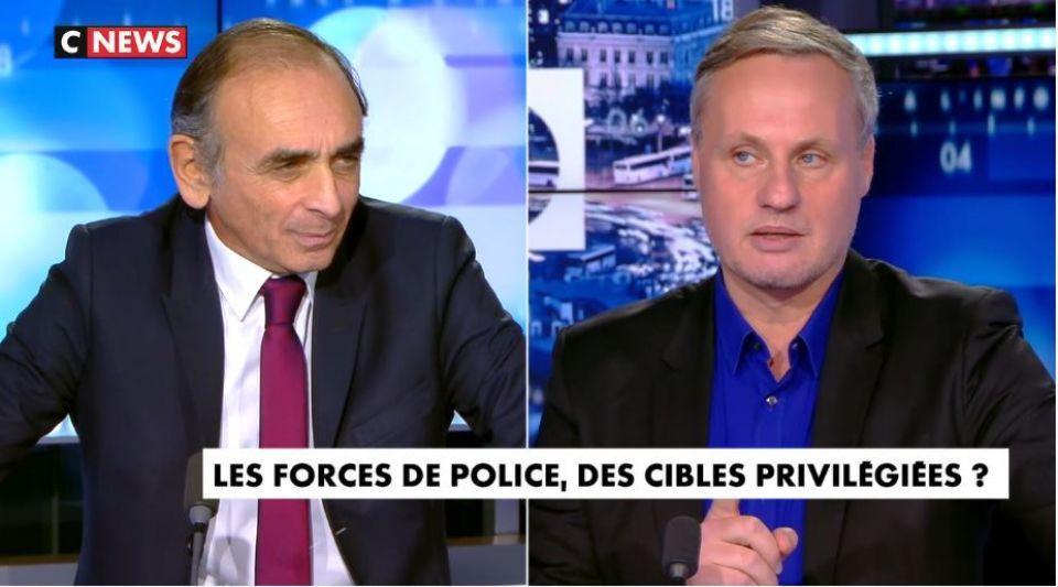 Eric Zemmour Jean-Sébastien Ferjou Face à l'info policiers forces de l'ordre