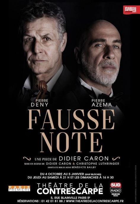 """""""Fausse note"""" de Didier Caron : une bonne partition... avec quelques fausses notes"""