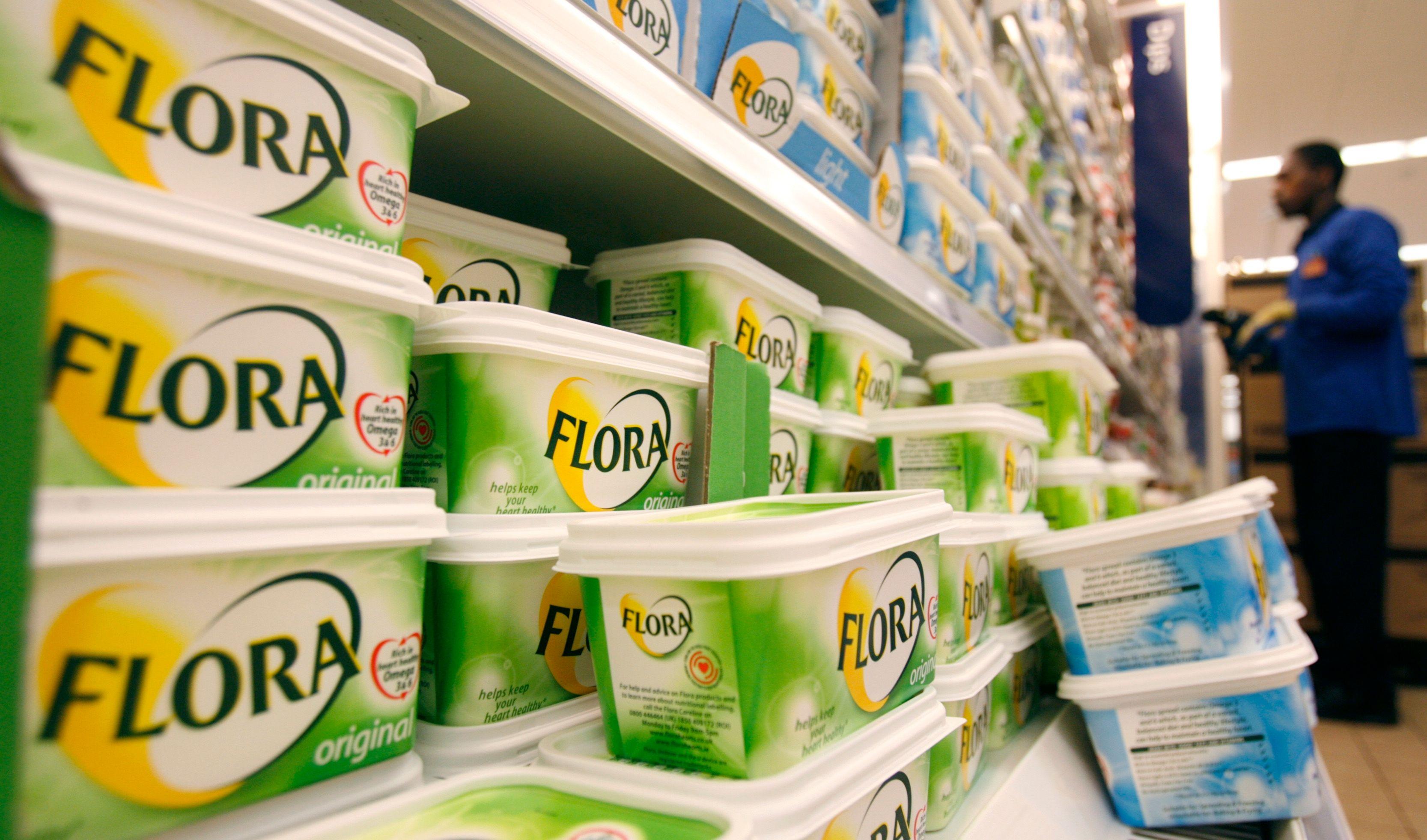 Margarine de la marque Flora, produite par le groupe Unilever.