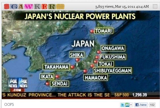 La carte erronée diffusée par Fox News