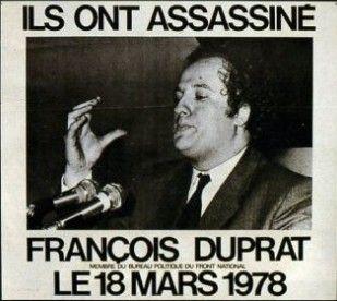 Une biographie de François Duprat devrait être publiée le 14 avril.