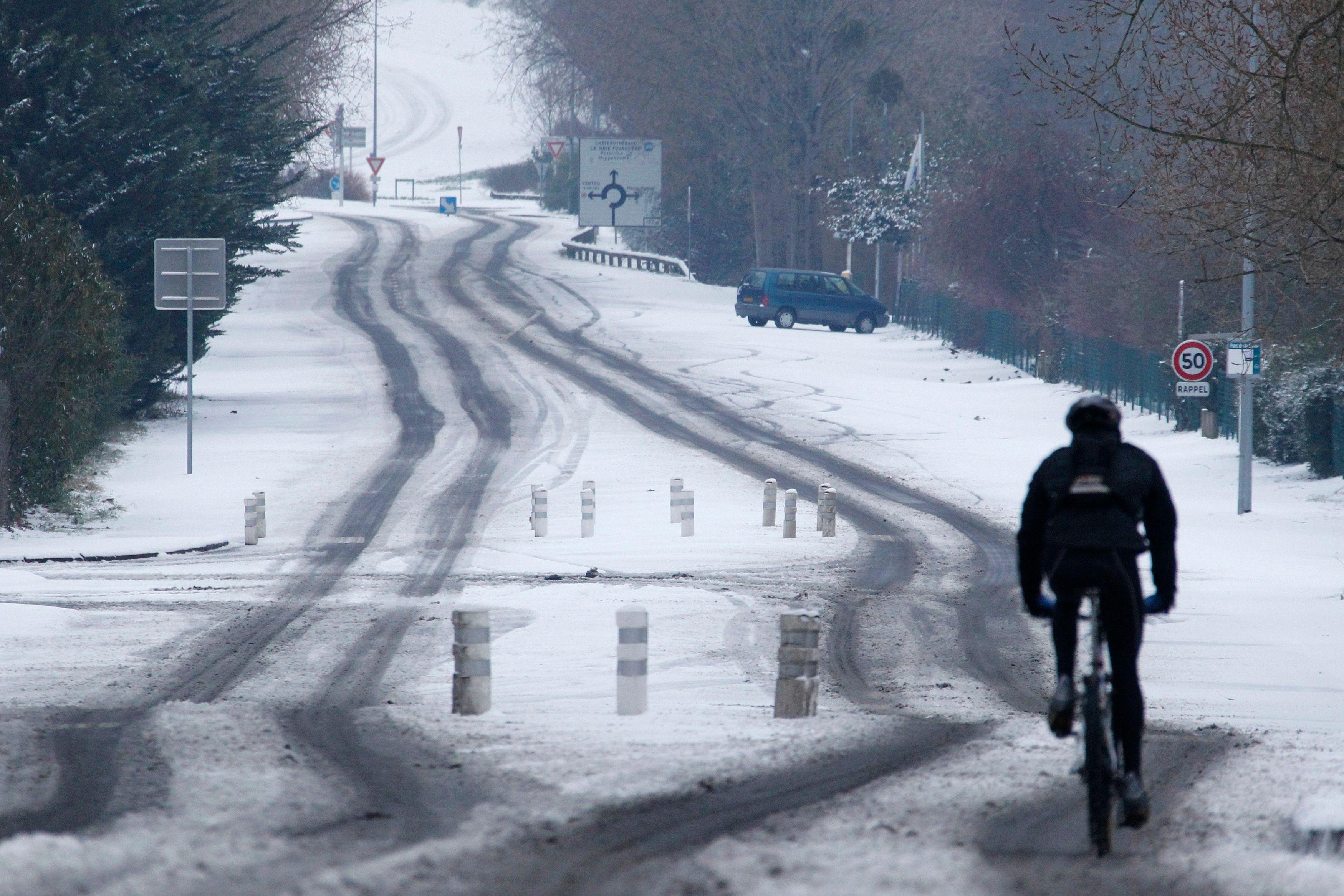 Certaines routes étaient verglacées ce mardi matin