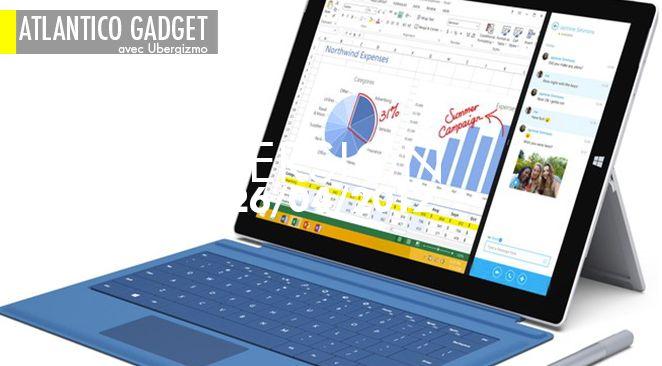 Surface Pro 3, la tablette est grande et mince.