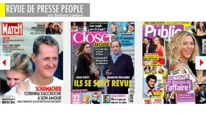 Julie G. et François Hollande, ça y est, c'est reparti ; Valérie T. repasse à l'Elysée...