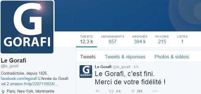 Le Gorafi c'est fini, du moins c'est l'annonce faite par le site satirique