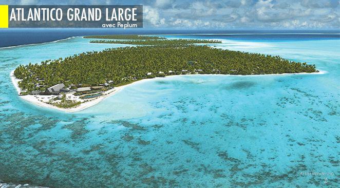 L'atoll de Tetiaroa, en Polynésie française.