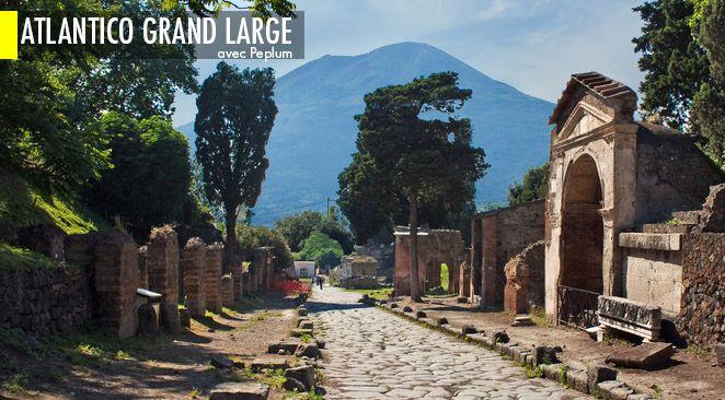 La cité antique de Pompéi.