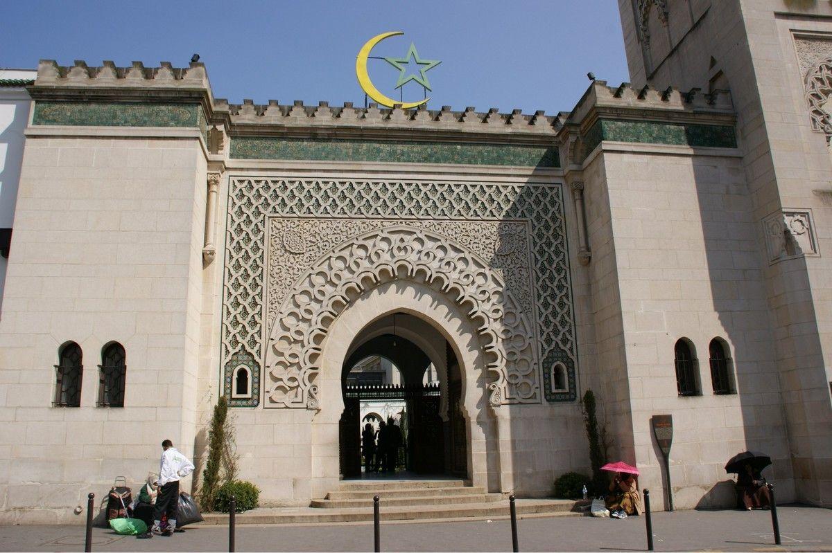 Détail de la grande mosquée de Paris