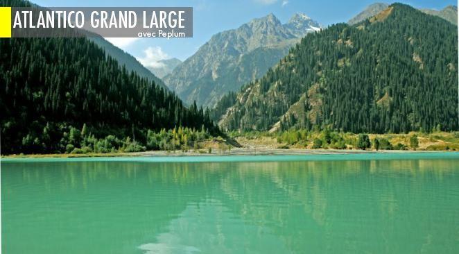 Le lac Issyk borde le Kazakhstan et le Turkménistan.