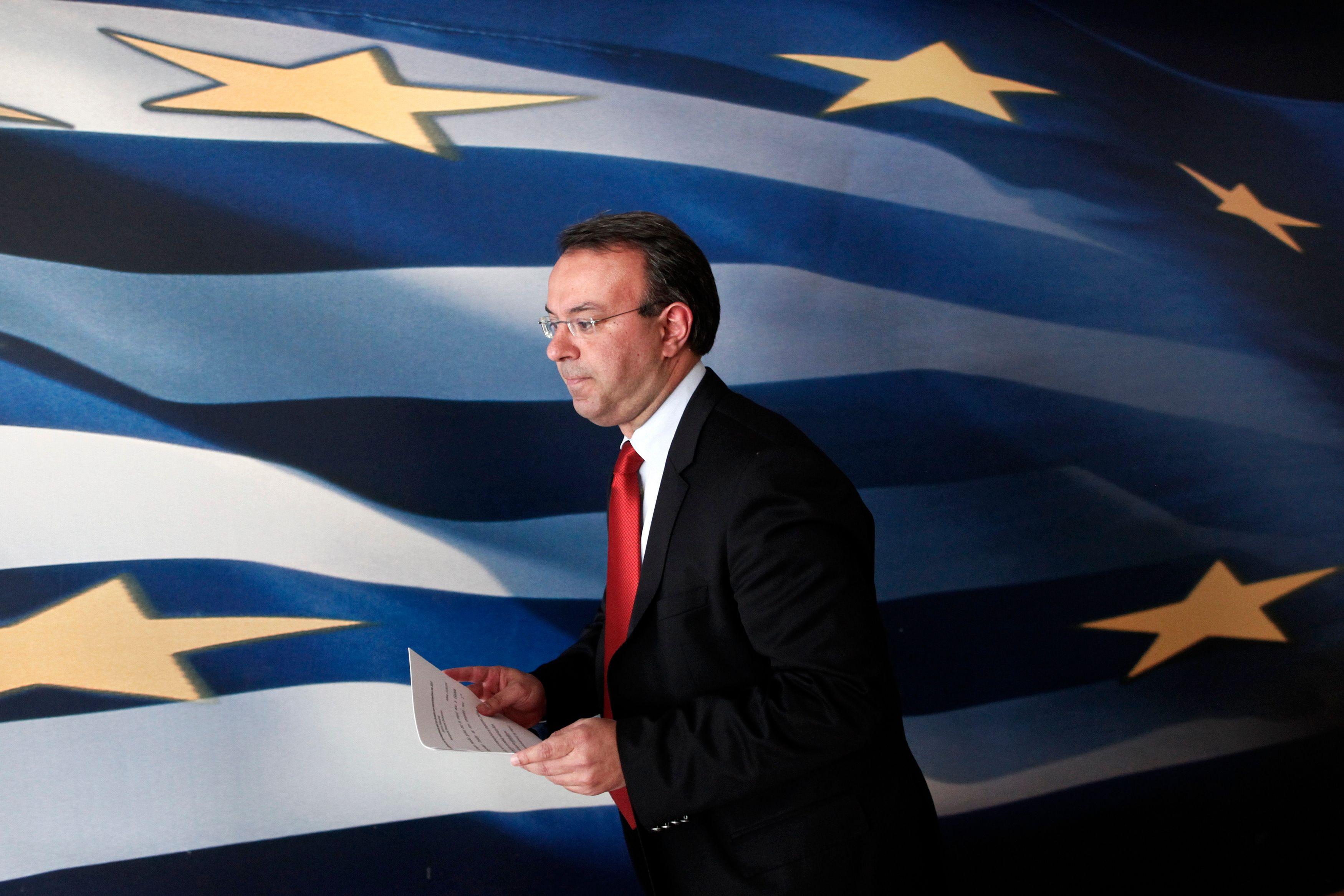 Christos Staikouras, ministre des Finances en Grèce.
