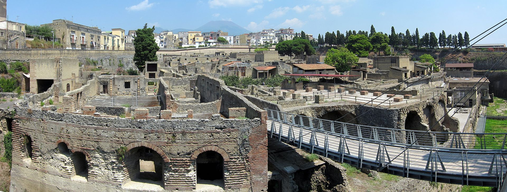 La ville romaine d'Herculanum, détruite après l'éruption du Vésuve.