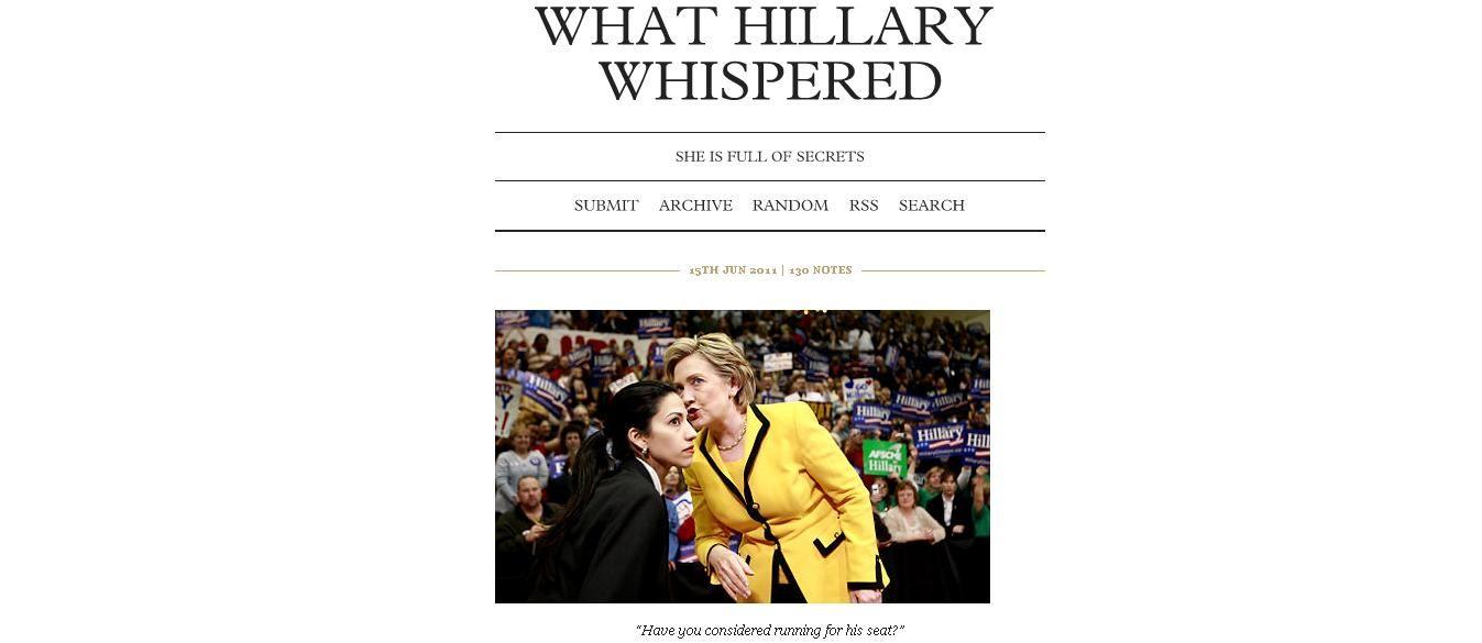 Hillary a beaucoup de secrets.