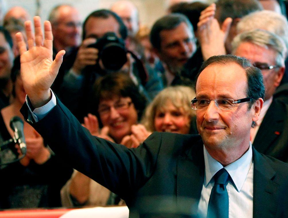 François Hollande a entamé sa visite par la présentation générale de Rungis par le président du marché international