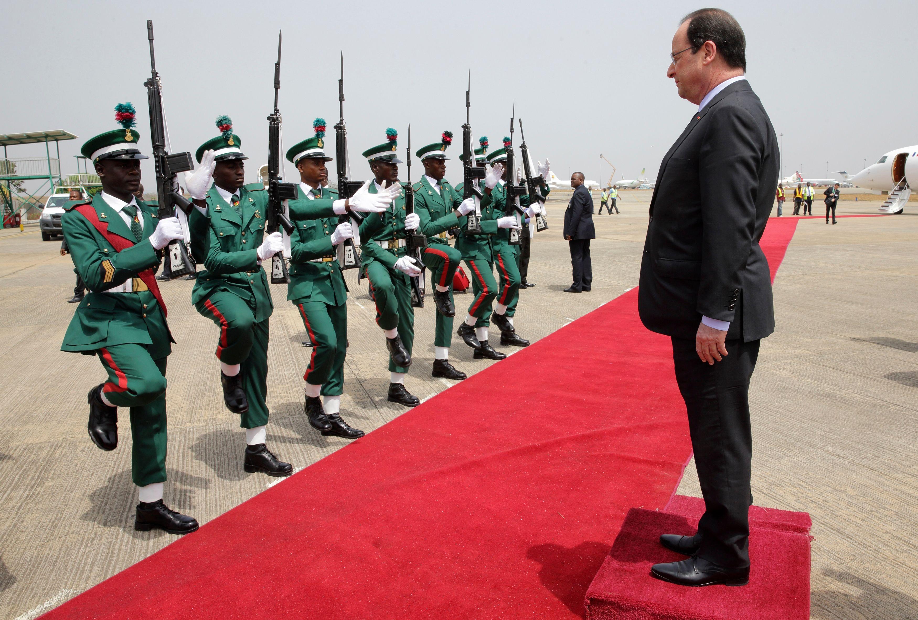 François Hollande en visite au Nigéria.