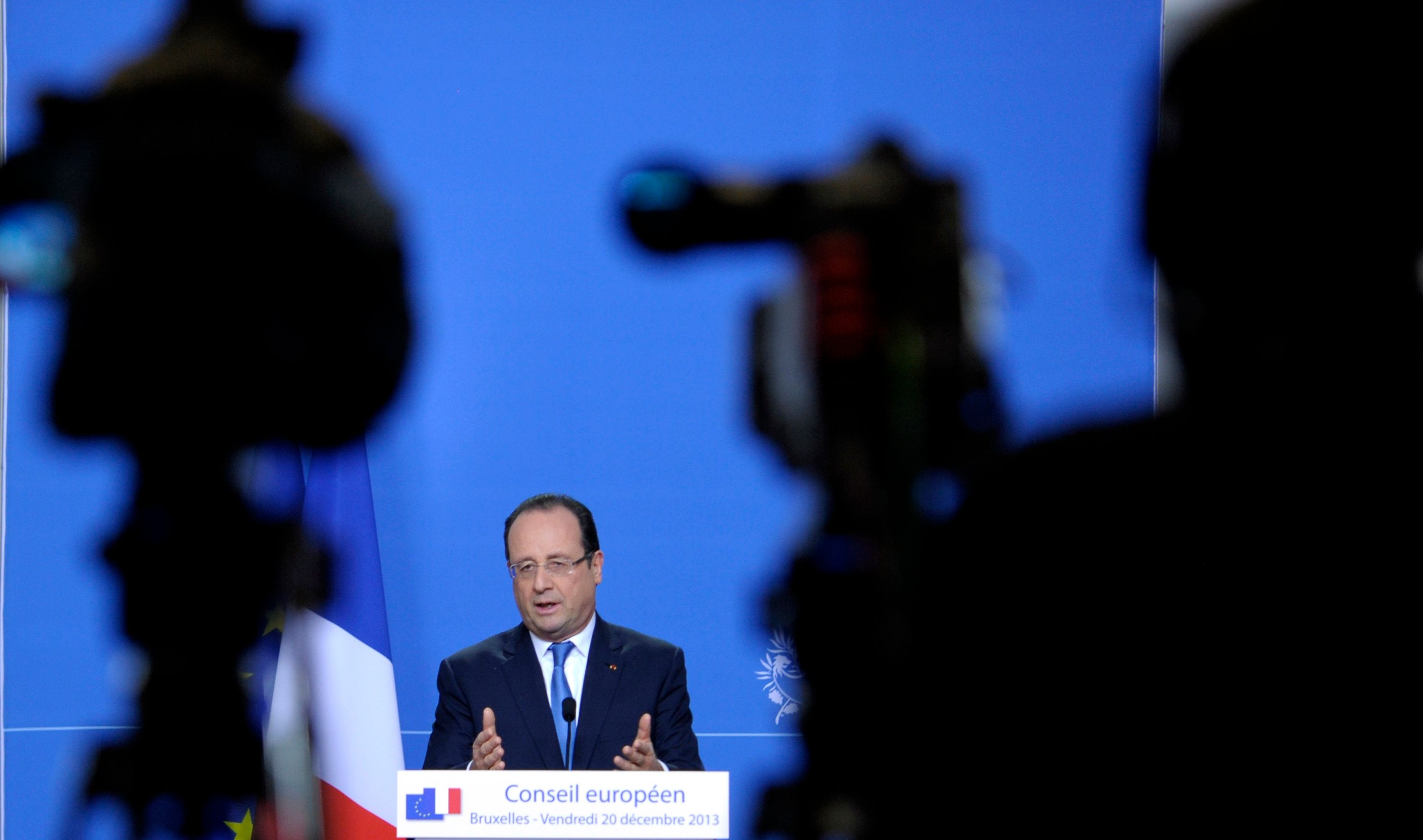 François Hollande lors d'une conférence de presse.