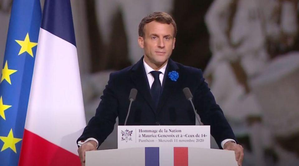 entrée au Panthéon Maurice Genevoix Emmanuel Macron discours première guerre mondiale Ceux de 14