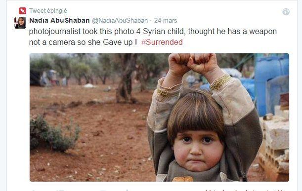 Hudea, 4 ans, réfugiée dans le camp d'Atmeh en Syrie.