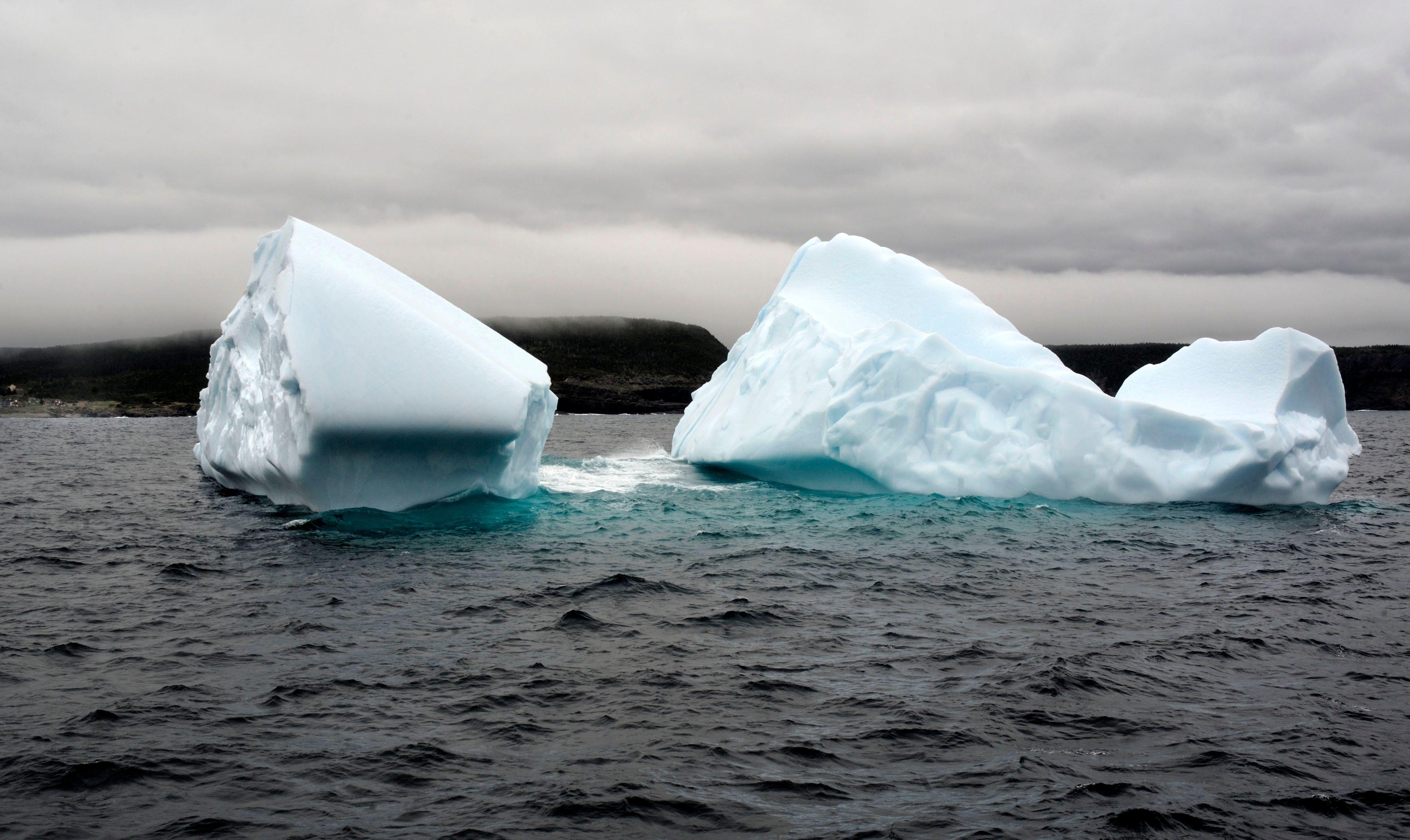 Un iceberg s'est détaché du glacier Petermann au Groenland.