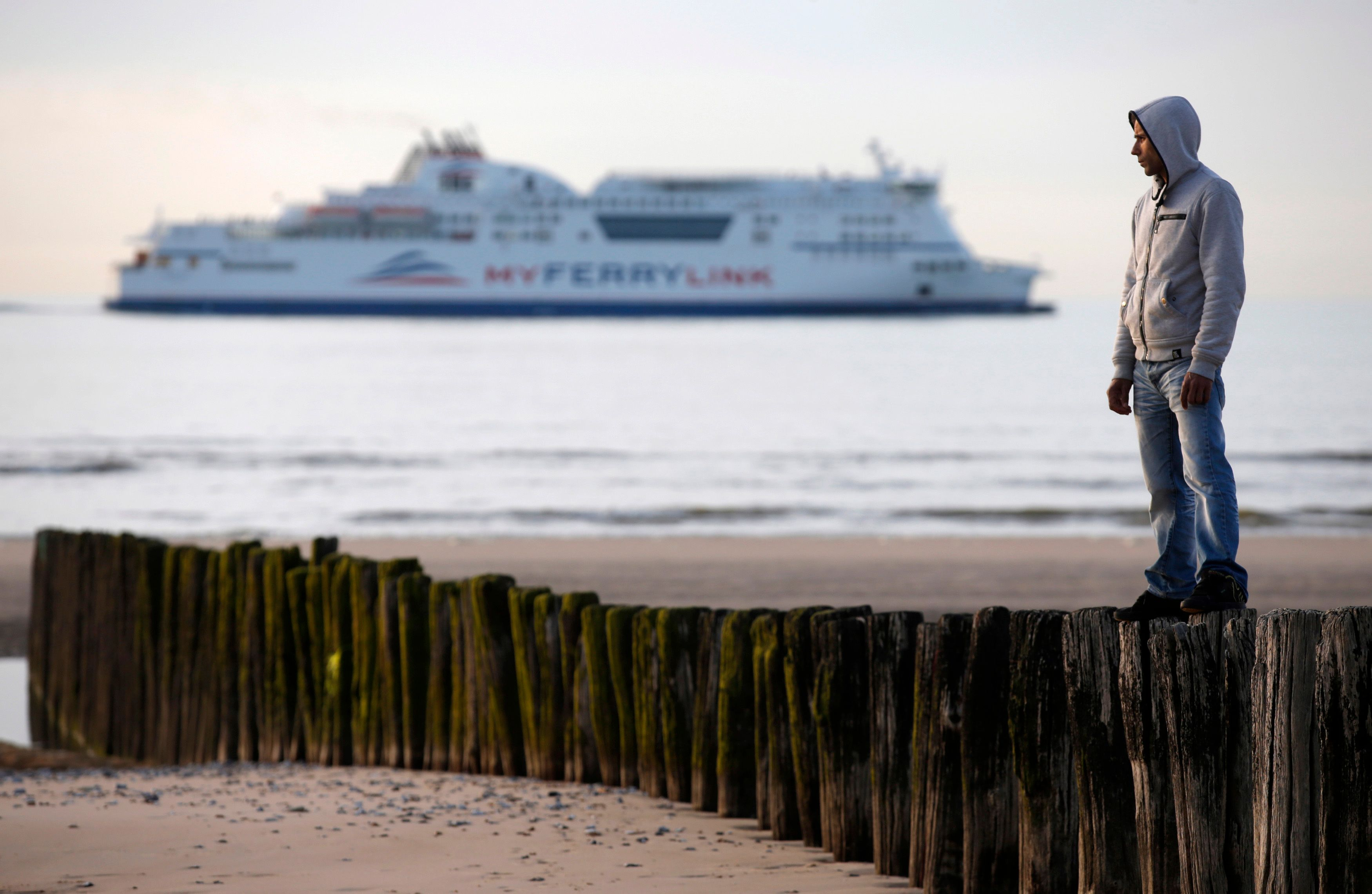 Un migrant à Calais.