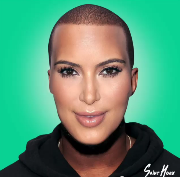 L'incroyable transformation de Kanye West en Kim Kardashian.