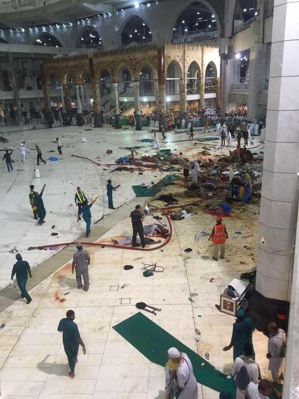La Mecque : un accident de grue a fait au moins 107 morts et près de 300 blessés
