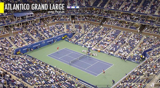 La géographie de l'U. S. Open rappelle curieusement celle de Roland Garros.
