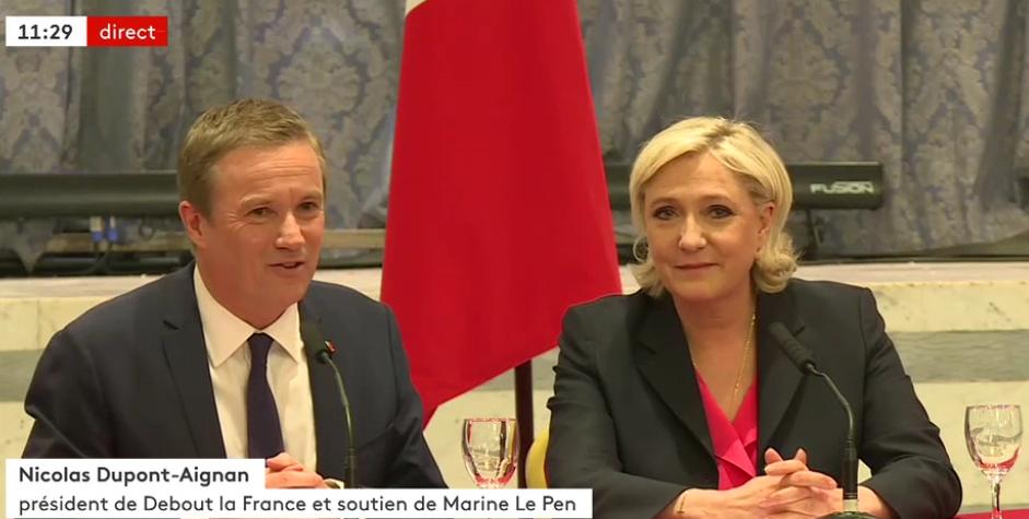 Le Front national et Nicolas Dupont-Aignan ont rompu leur alliance