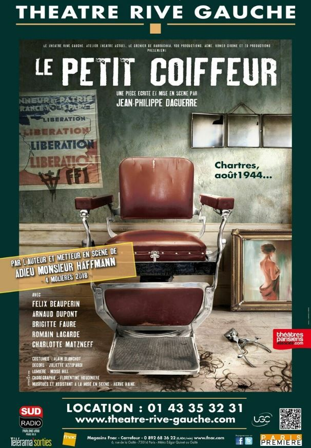 """La pièce """"Le petit coiffeur"""" de Jean-Philippe Daguerre est à découvrir au Théâtre Rive Gauche à Paris."""