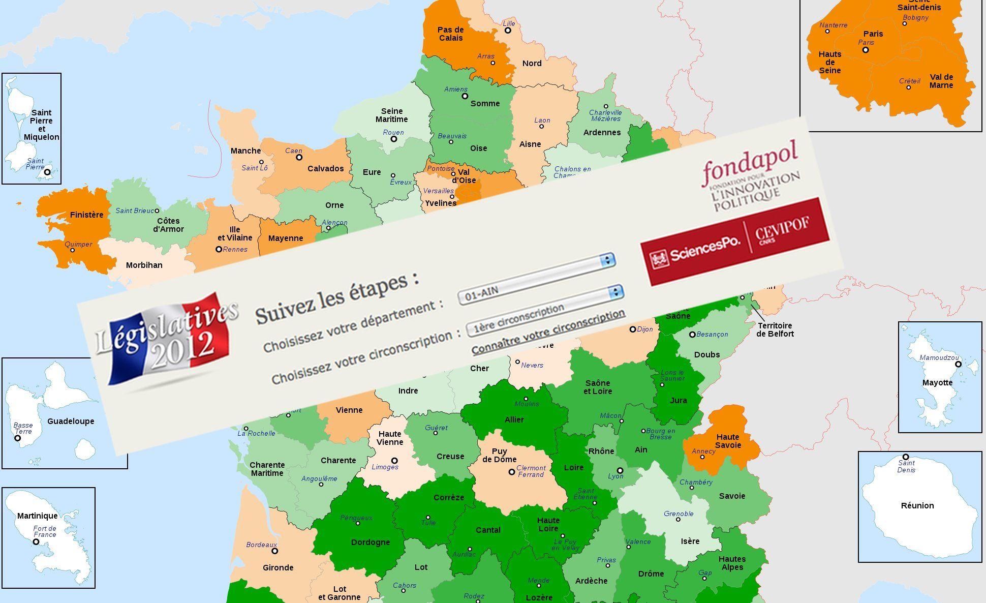 Législatives 2012 : Faites les simulations de vote dans votre circonscription pour le 2nd tour