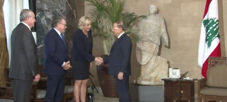 Liban : Marine Le Pen a rencontré Michel Aoun