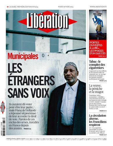 La une du journal Libération du 18 mars.