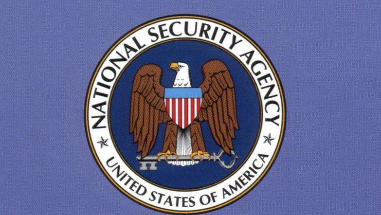 Le logo de la NSA, la National Security Agency, un organisme gouvernemental du département de la Défense des Etats-Unis.