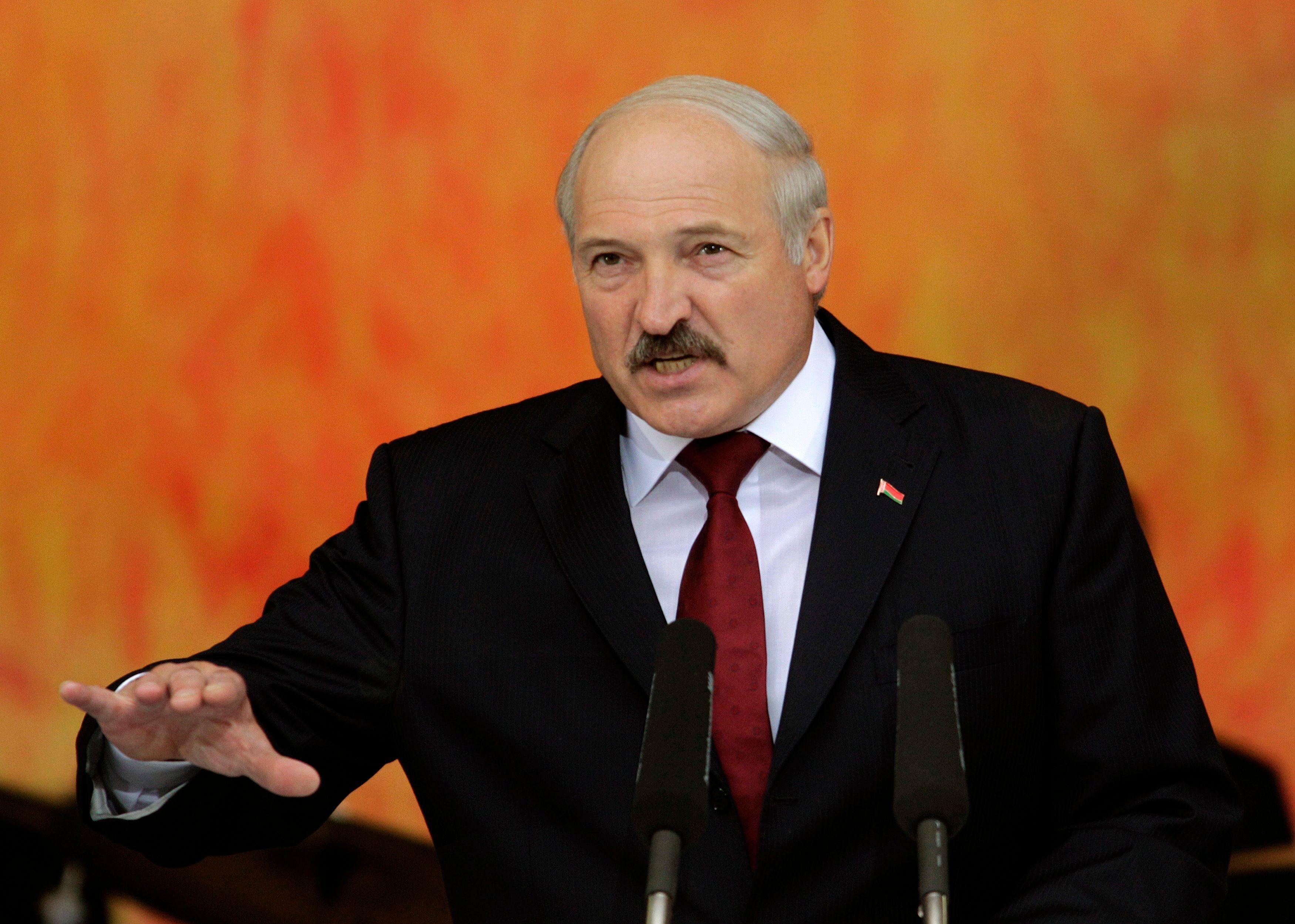 Le chef d'Etat biélorusse Aleksandr Loukachenko.