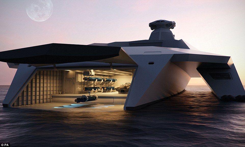 A bord du Dreadnought 2050, il sera possible de fabriquer des drones et des canons électromagnétiques directement à bord.