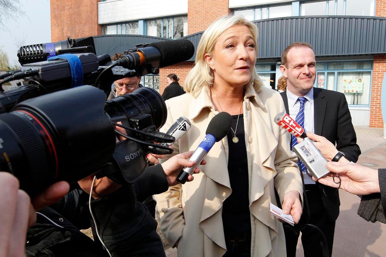 Marine Le Pen était présente au salon de l'Agriculture ce mardi