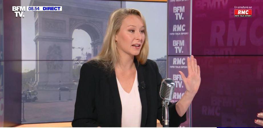 Marion Maréchal était l'invitée de RMC et BFMTV ce jeudi 29 avril.