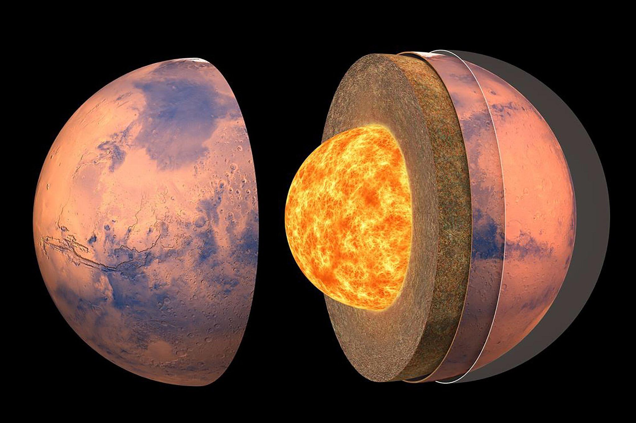 La NASA a dévoilé la première carte détaillée de l'intérieur de la planète Mars, grâce aux travaux et aux avancées de la mission InSight.