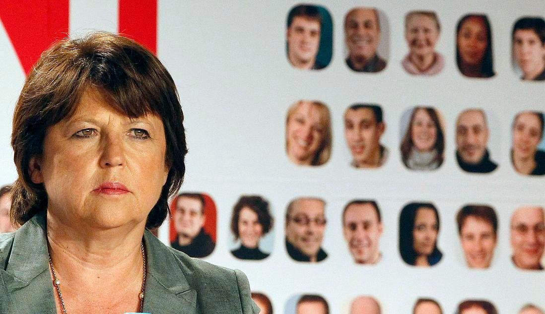 Martine Aubry est arrivée en deuxième position de la primaire PS derrière François Hollande, à près de 10 points d'écart.