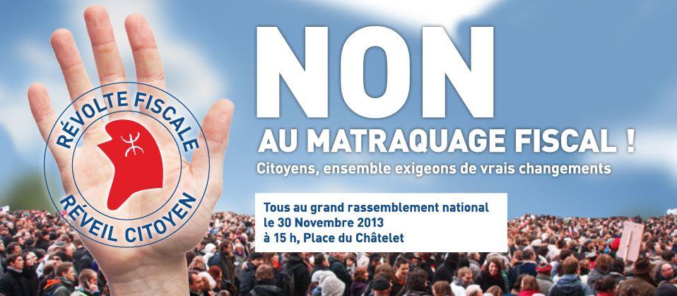 Le mouvement se retrouvera le 30 novembre prochain, place du Châtelet à Paris à 15 heures.