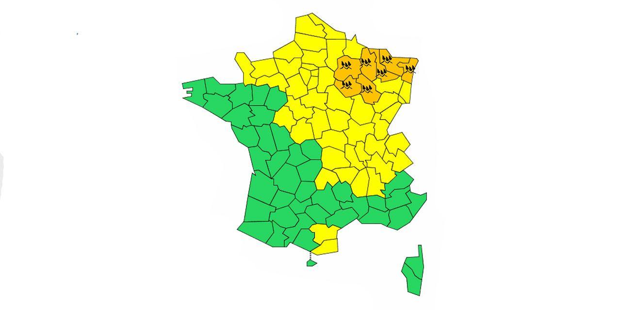 Météo : 7 départements en alerte orange