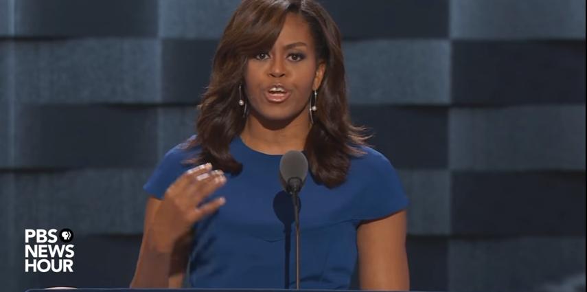 2016 : discours très remarqué de Michelle Obama à la Convention démocrate