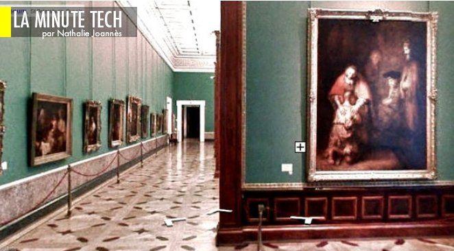 Google donne l'accès au Musée de l'Hermitage à Saint-Petersbourg.