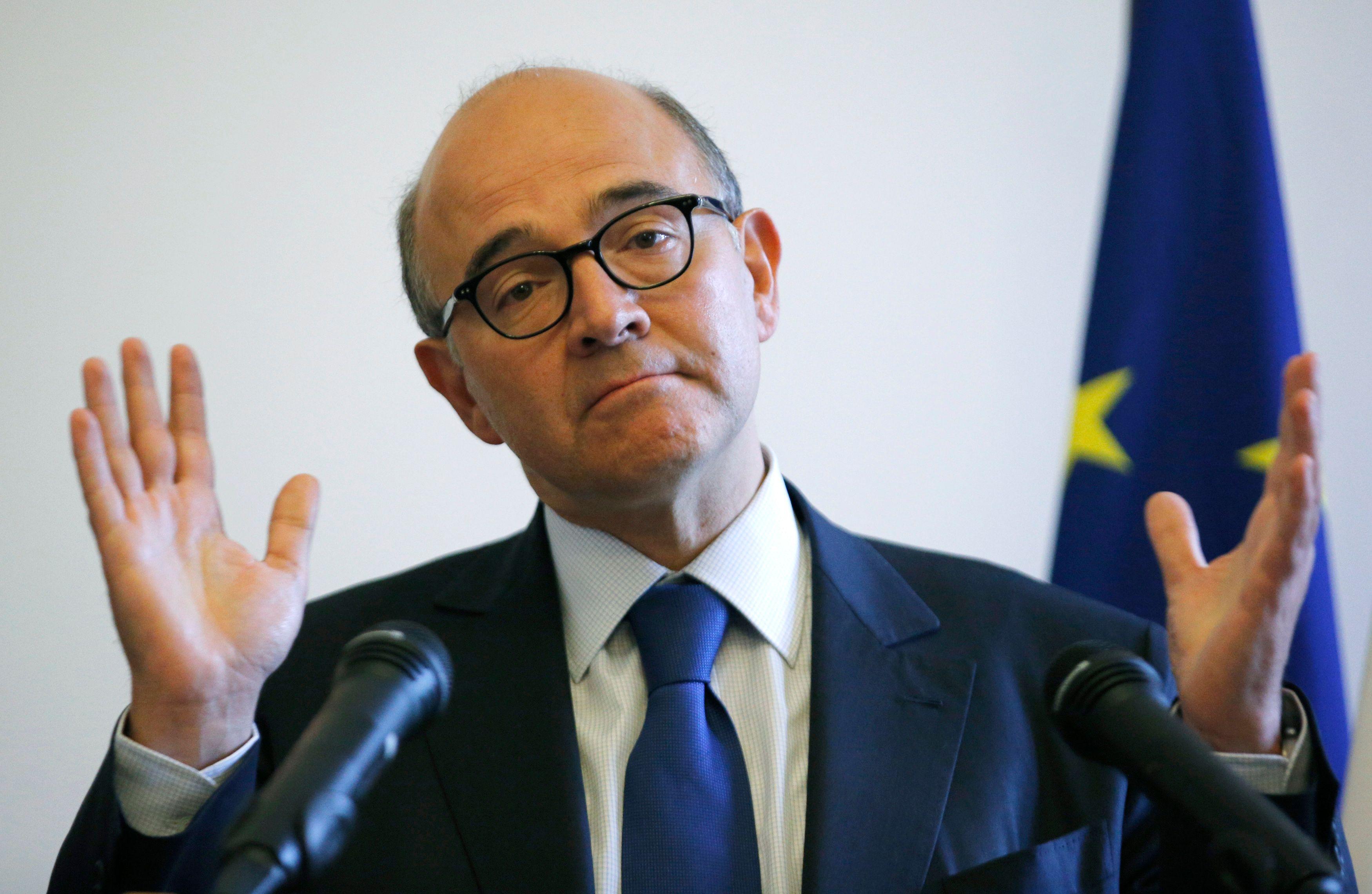"""Selon Pierre Moscovici, la communauté internationale est en train de faire des """"pas de géant"""""""