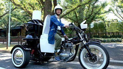 """Cette """"moto-crotte"""" d'un nouveau genre a une autonomie d'environ 300 kilomètres."""