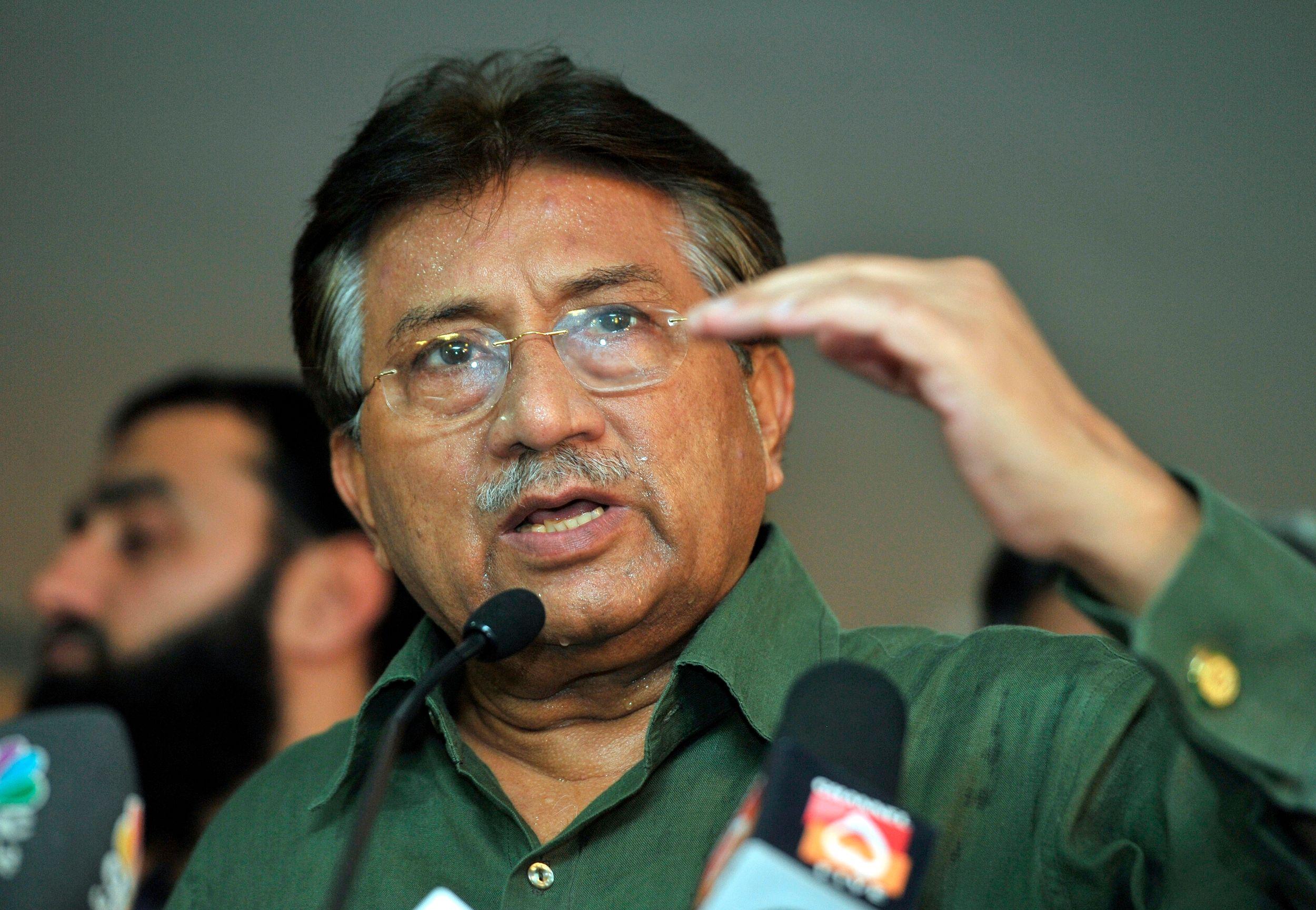 L'ancien général-président du Pakistan Pervez Musharraf.