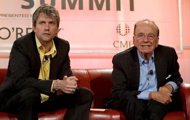 Chris DeWolfe (co-fondateur de Myspace), et Rupert Murdoch en 2007