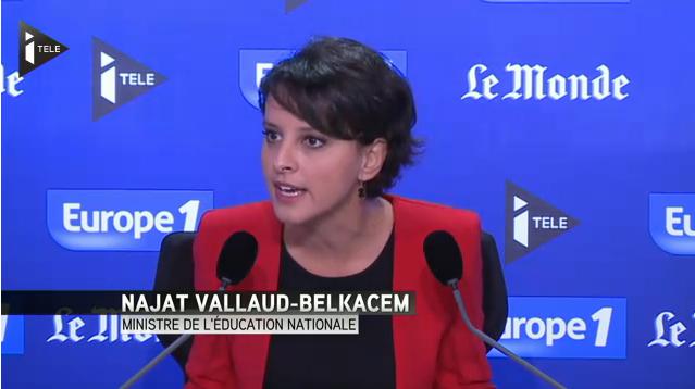 """Réforme du collège : Najat Vallaud-Belkacem accuse la droite """"d'enfumer l'opinion publique"""""""