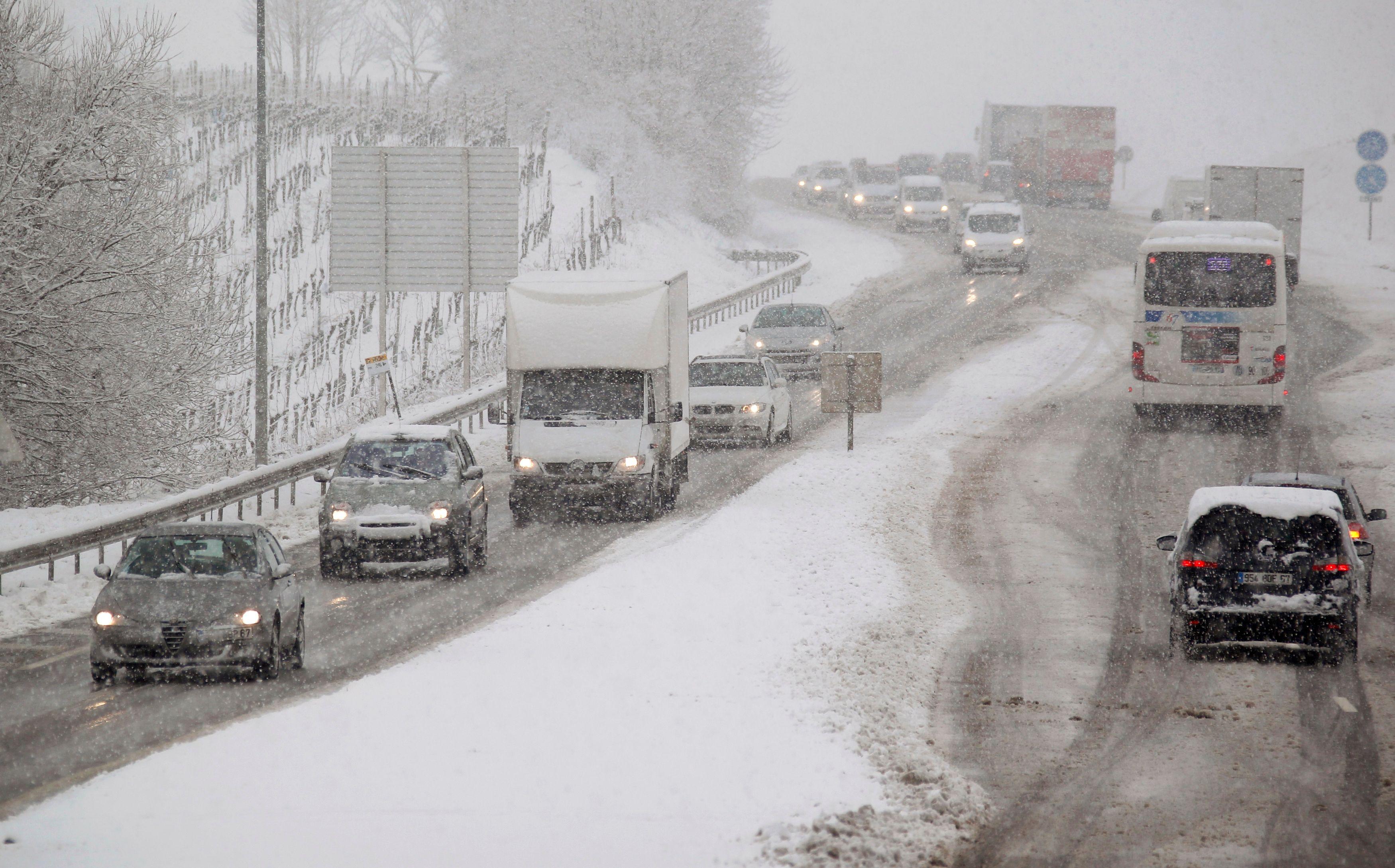 La neige a perturbé la circulation durant le week-end